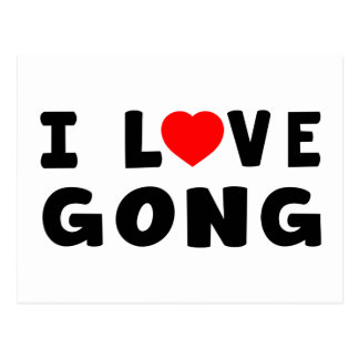 I Love Gong Post Card