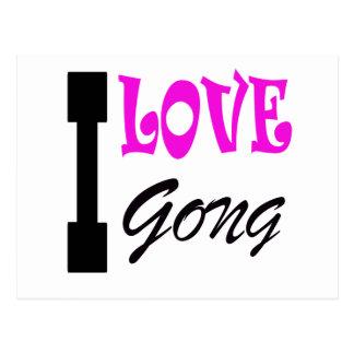 I Love Gong Postcard