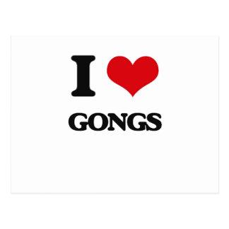 I love Gongs Postcard