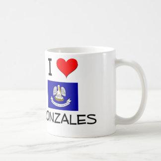 I Love GONZALES Louisiana Coffee Mugs