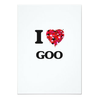 I Love Goo 13 Cm X 18 Cm Invitation Card