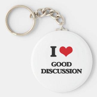 I love Good Discussion Key Chain