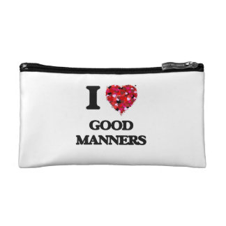 I Love Good Manners Cosmetic Bag