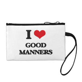 I love Good Manners Coin Wallets