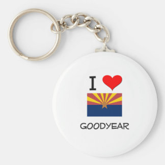I Love GOODYEAR Arizona Basic Round Button Key Ring