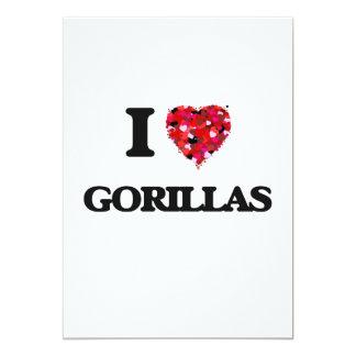 I Love Gorillas 13 Cm X 18 Cm Invitation Card