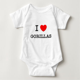 I Love GORILLAS Baby Bodysuit