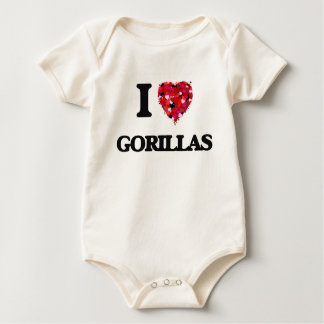 I love Gorillas Baby Bodysuit