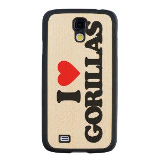 I LOVE GORILLAS CARVED® MAPLE GALAXY S4 SLIM CASE