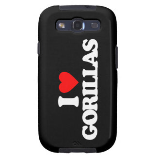 I LOVE GORILLAS SAMSUNG GALAXY SIII CASE