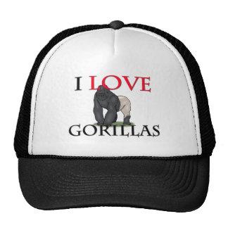 I Love Gorillas Hats