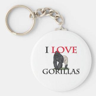 I Love Gorillas Key Ring
