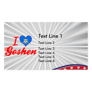 I Love Goshen, Connecticut Double-Sided Standard Business Cards (Pack Of 100)