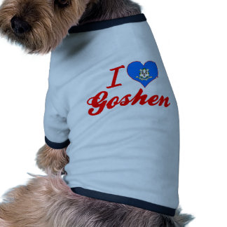 I Love Goshen, Connecticut Dog Tshirt