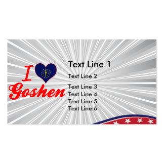I Love Goshen Indiana Business Card Template