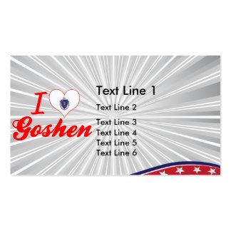 I Love Goshen Massachusetts Business Card Templates