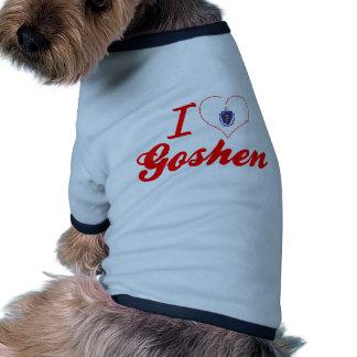 I Love Goshen, Massachusetts Dog T-shirt