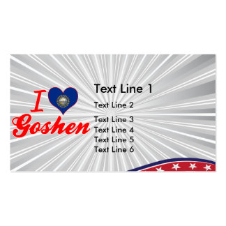 I Love Goshen, New Hampshire Double-Sided Standard Business Cards (Pack Of 100)