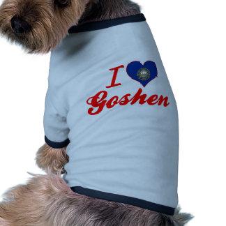 I Love Goshen, New Hampshire Doggie T Shirt