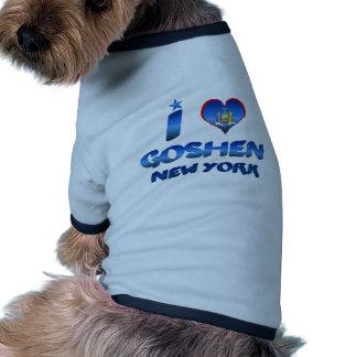 I love Goshen New York Dog T-shirt