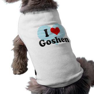 I Love Goshen, United States Doggie Tshirt