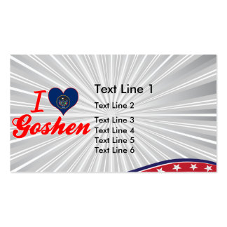 I Love Goshen Utah Business Card Template