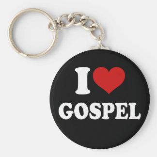 I Love Gospel Basic Round Button Key Ring
