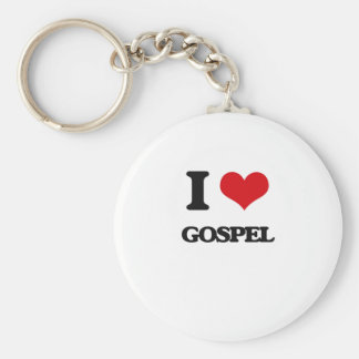 I Love GOSPEL Key Chains