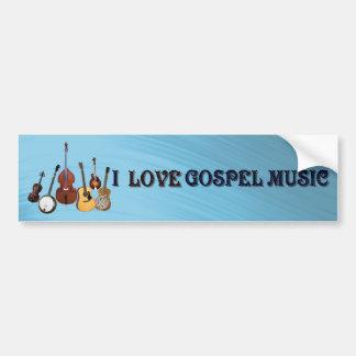 I LOVE GOSPEL MUSIC-BUMPER STICKER