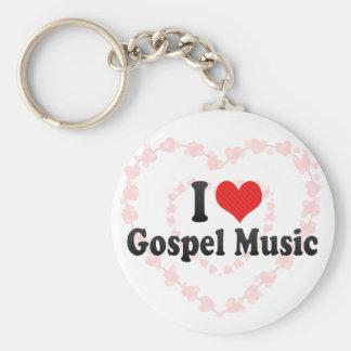I Love Gospel Music Key Chains