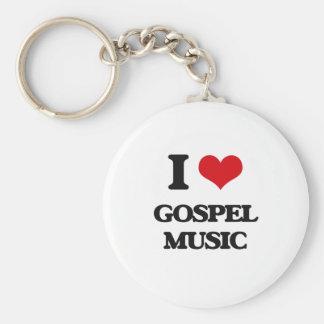 I Love GOSPEL MUSIC Keychains