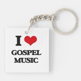 I love Gospel Music Acrylic Keychains