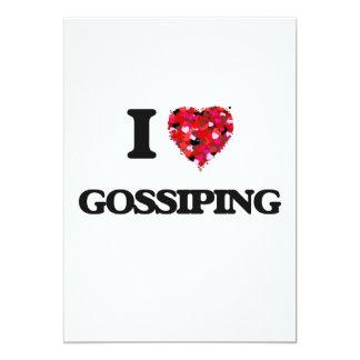 I Love Gossiping 13 Cm X 18 Cm Invitation Card