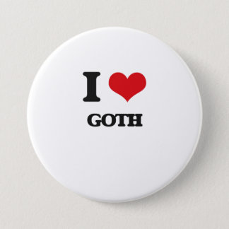 I Love GOTH 7.5 Cm Round Badge
