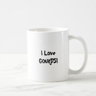 I Love GOURDS Coffee Mugs