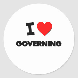 I Love Governing Stickers