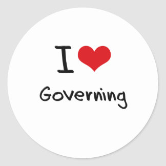 I Love Governing Round Stickers