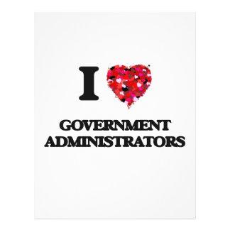 I love Government Administrators 21.5 Cm X 28 Cm Flyer