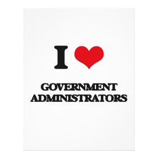 I love Government Administrators Flyer Design