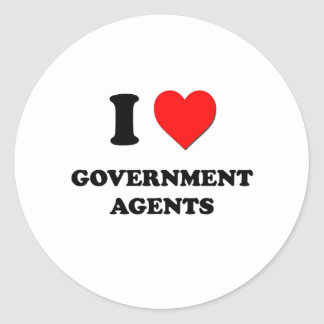 I Love Government Agents Stickers