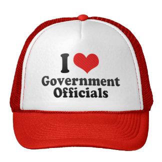 I Love Government Officials Mesh Hats