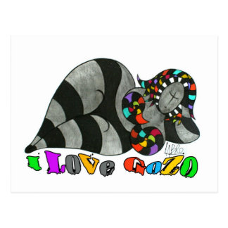 I LOVE GOZO PAPER PRODUCTS POSTCARD
