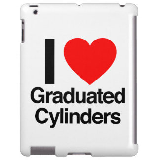 i love graduated cylinders iPad case