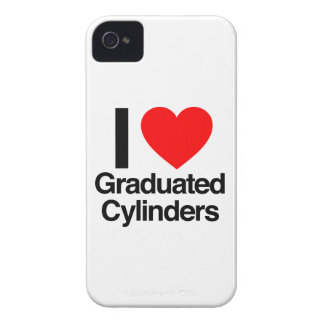 i love graduated cylinders Case-Mate iPhone 4 cases