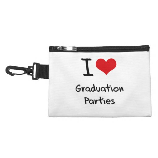 I Love Graduation Parties Accessory Bags