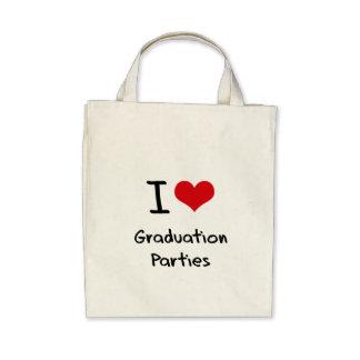 I Love Graduation Parties Tote Bags