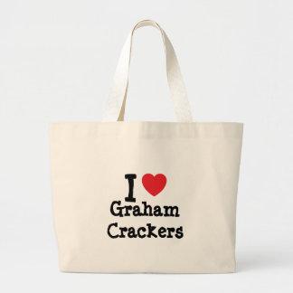 I love Graham Crackers heart T-Shirt Tote Bags