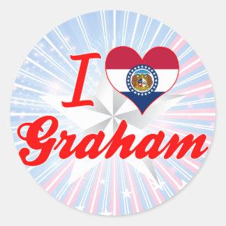 I Love Graham, Missouri Round Stickers