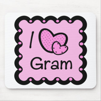 I Love Gram Cute T-Shirt Mouse Mat