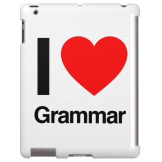 i love grammar iPad case
